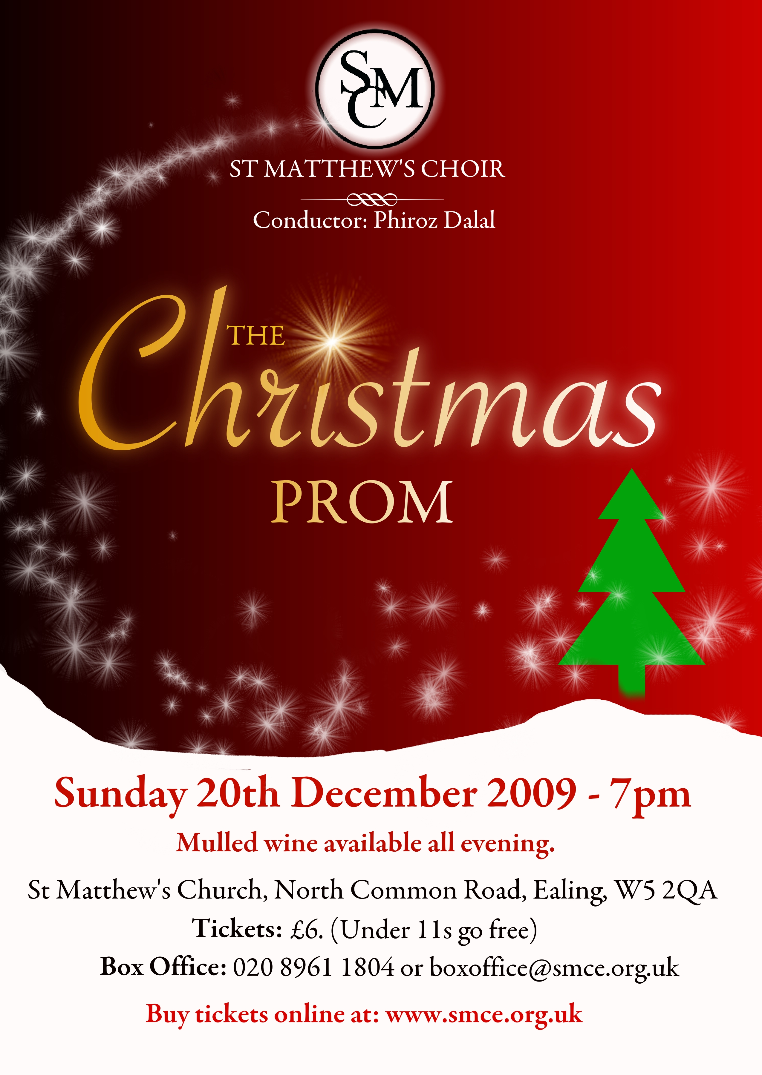 ealing common choir poster wall all christmas prom